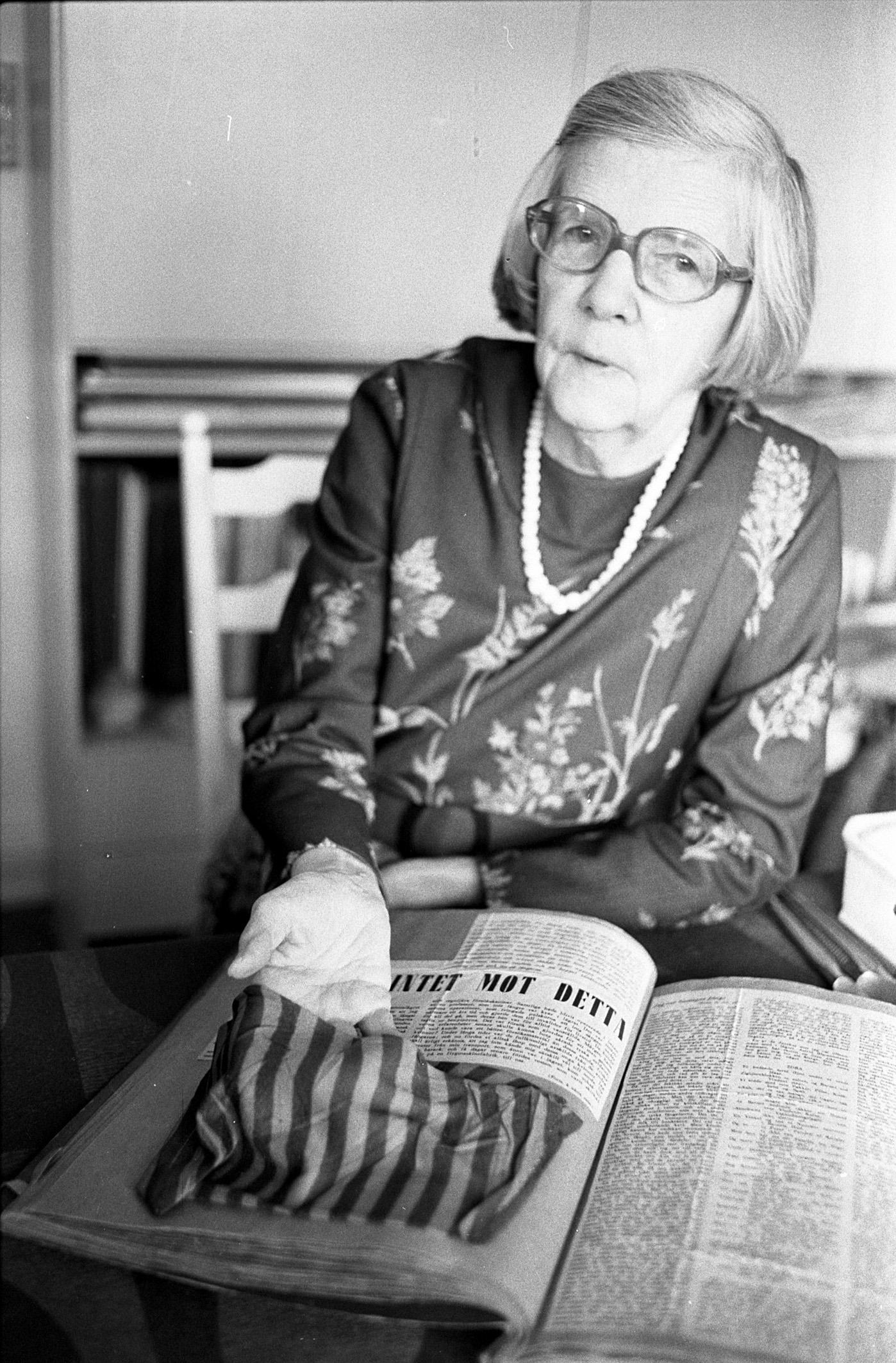 Modstandskvinden Astrid Blumensaadt, 1983.