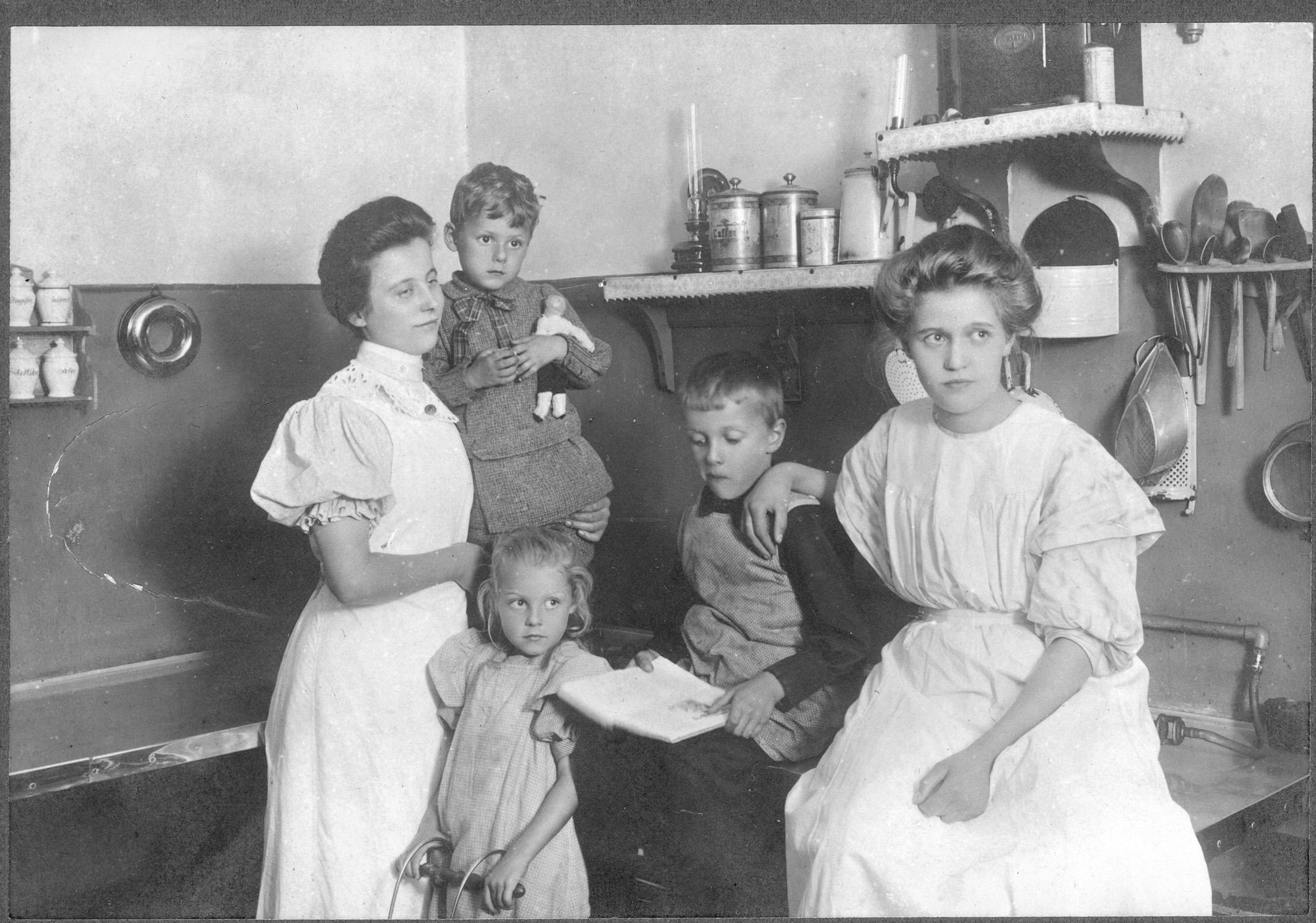 Køkkenet, Skt. Hans præstegård ca. 1908